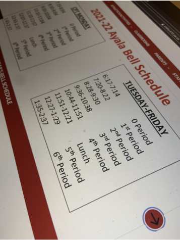 Ayala schedule change